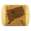 Connecticut State Shape Bamboo Cutting Board