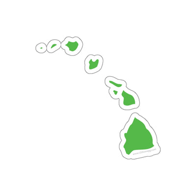 Hawaii State Shape Sticker LIME GREEN