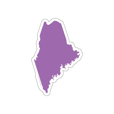 Maine State Shape Sticker PURPEL