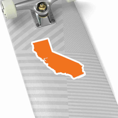 California State Shape Sticker ORANGE