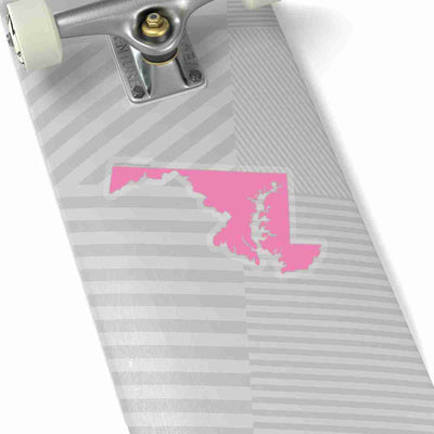 Maryland State Shape Sticker PINK