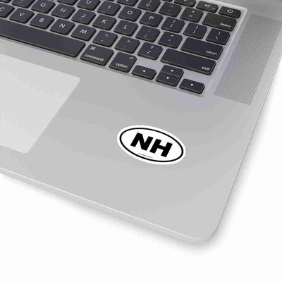 New Hampshire State Shape Sticker BLACK