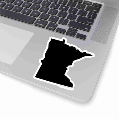 Minnesota State Shape Sticker BLACK