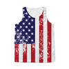American Flag Distressed All Over Tank Top  - 4th of July