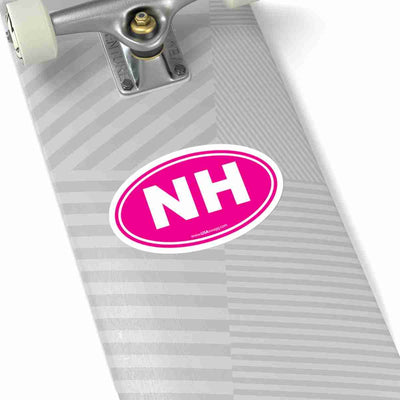 New Hampshire State Shape Sticker SOLID PINK