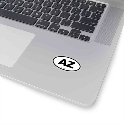 Arizona AZ Euro Oval Sticker BLACK
