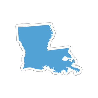 Louisiana State Shape Sticker CAROLINA BLUE