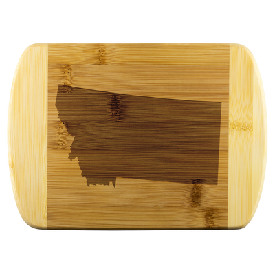 Montana State Shape Bamboo Cutting Board