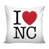 I Love North Carolina Pillow Case
