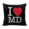 I Love Maryland Pillow Case