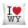 I Love Wyoming Pillow Case