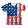American Flag Pixelated All Over Tshirt  - 4th of July