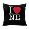 I Love Nebraska Pillow Case