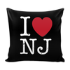 I Love New Jersey Pillow Cases