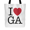 I Love Georgia Tote Bag
