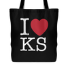 I Love Kansas Tote Bag