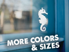 Sea Horse Vinyl Sticker Decal