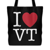 I Love Vermont Tote Bag