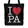 I Love Pennsylvania Tote Bag