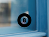 Eight Ball Vinyl Sticker Decal - Eight Ball Decal Sticker