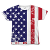 American Flag Distressed All Over Shirt  - 4th of July