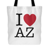 I Love Arizona Tote Bag