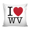 I Love West Virginia Pillow Case