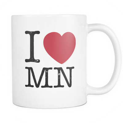 I Love Minnesota Mug