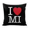 I Love Michigan Pillow Case