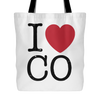 I Love Colorado Tote Bag