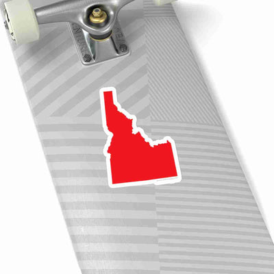 Idaho State Shape Sticker RED