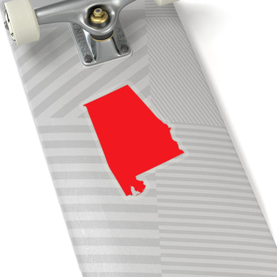 Alabama State Shape Sticker RED