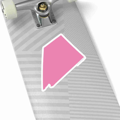 Nevada State Shape Sticker PINK