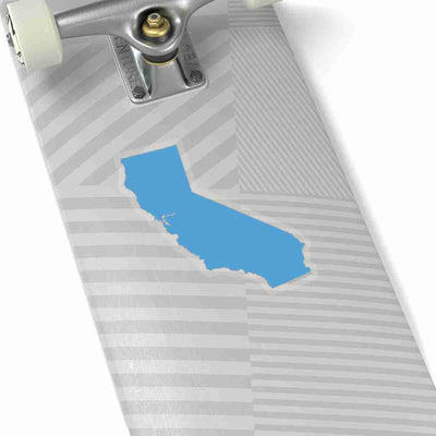 California State Shape Sticker LIGHT BLUE
