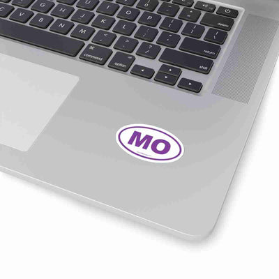 Missouri MO Euro Oval Sticker PURPLE