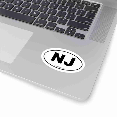 New Jersey Euro Oval Sticker