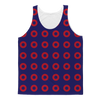 Red Circle Donut Classic Sublimation Adult Tank Top