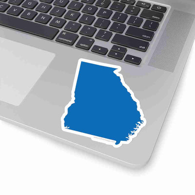 Georgia State Shape Sticker BLUE