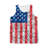 American Flag Tank Top Pixelated  - 4th of July