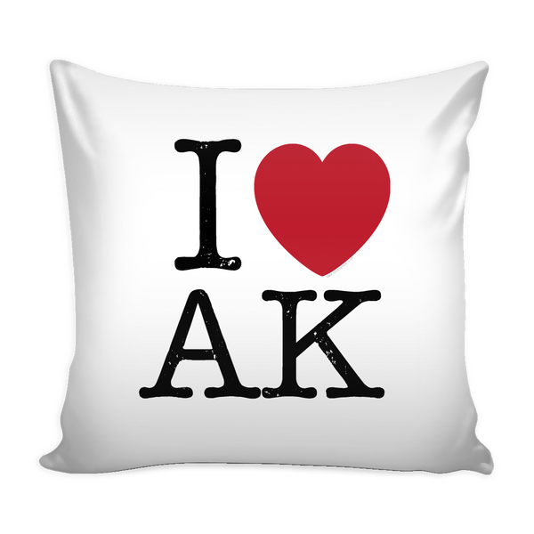I Love Alaska Pillow Case