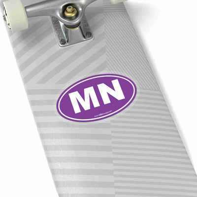 Minnesota State Shape Sticker SOLID PURPLE