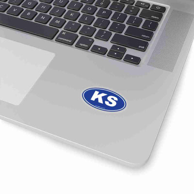 Kansas State Shape Sticker BLUE