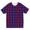 Red Circle Donut Sublimation Kids T-Shirt