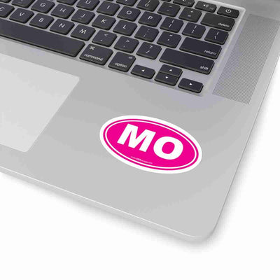 Missouri MO Euro Oval Sticker SOLID PINK