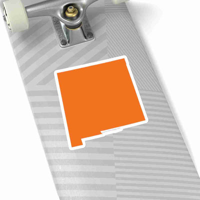 New Mexico State Shape Sticker ORANGE