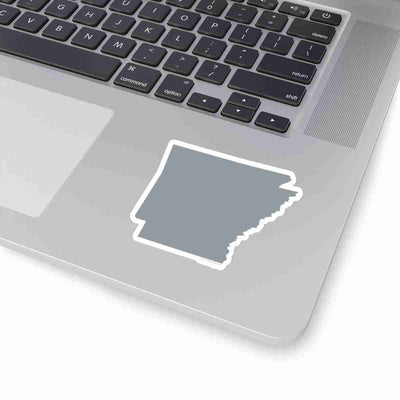 Arkansas State Shape Sticker GREY