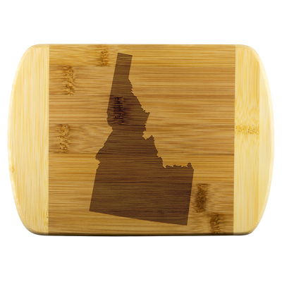 Idaho ID State Shape Bamboo Cutting Board