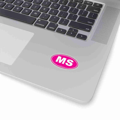 Mississippi MS Euro Oval Sticker SOLID PINK