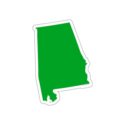 Alabama State Shape Sticker GREEN