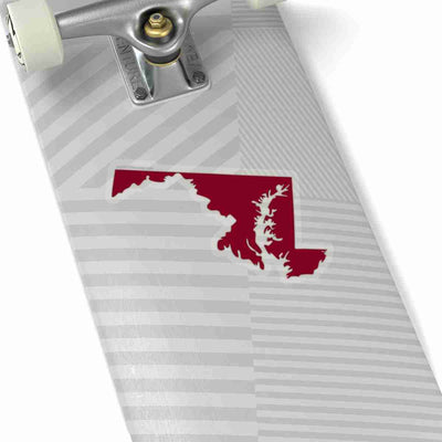 Maryland State Shape Sticker GARNET